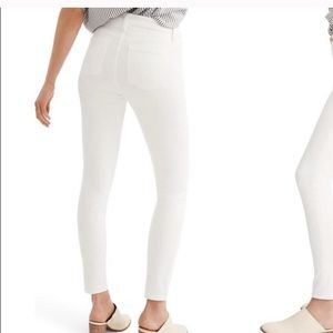 Madewell 9 inch high rise skinny jeans white 29